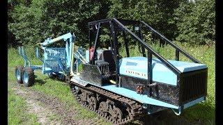 Самодельный мини-трактор. Проверка на тягу.