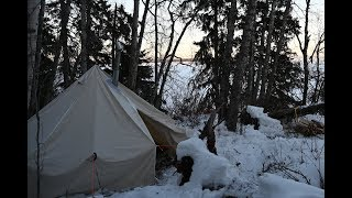 Winter Camping and Ice Fishing Trip