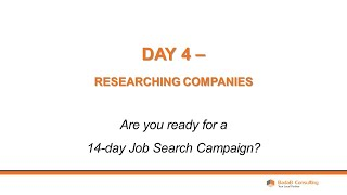 Day 4 - Researching Companies