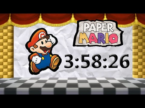 Paper Mario 64 - Glitchless Speedrun in 3:58:26 [Former WR] [Commentated]