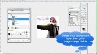 Hoe maak je een cool spray afbeelding met Gimp & Importeren