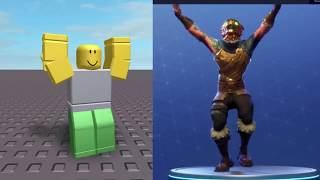 Fortnite emotes in roblox!!! (This video is bad)