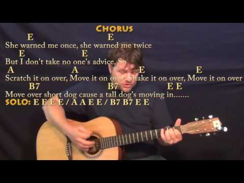 Move It On Over (Hank Williams) Country Guitar Cover Lesson with Chords/Lyrics - E A B7