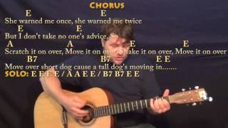 move it on over hank williams country guitar cover lesson with chords lyrics e a b7