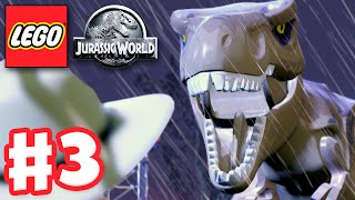 LEGO Jurassic World - Gameplay Walkthrough Part 3 - T-Rex Attack! (PC)