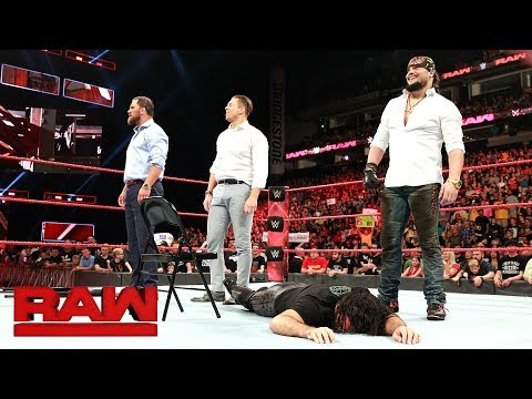 The Miz and The Miztourage pummel Dean Ambrose and Seth Rollins: Raw, July 17, 2017
