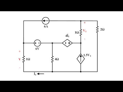Devre Teorisi Ders 24 Bağımlı Kaynaklarla Süper Düğüm Analiz Yöntemi Örneği (Matlab Çözümünü İçerir)