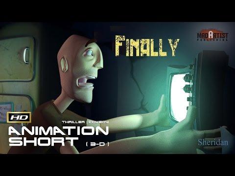 "CGI 3D Animated Short Film ""FINALLY"" Funny Zombie Thriller Animation by Garth Laidlaw & Sheridan"