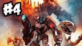 Transformers Fall of Cybertron - Gameplay Walkthrough - Part 4 - GIANT BROTHER!! (Xbox 360/PS3/PC)
