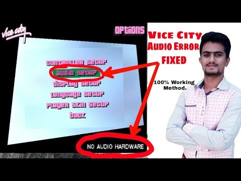 How To Solve Audio Problem In Vice City | Vice City Audio Not Working Solved | No Audio Hardware GTA