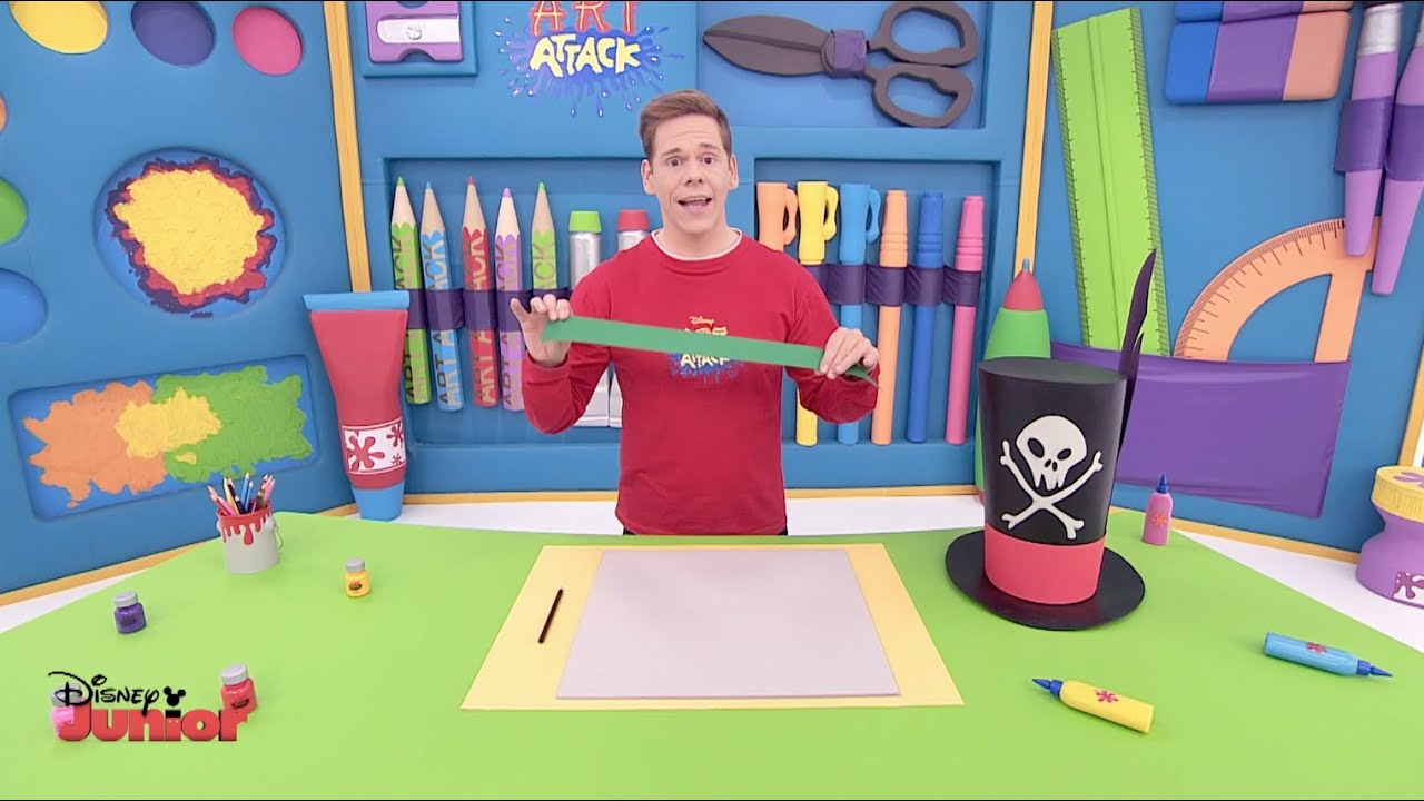 How To Make A Book Cover Art Attack : Art attack hats masks official disney junior uk hd