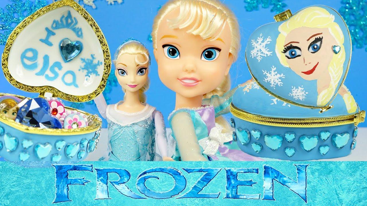 Frozen Elsa Jewelry Box Heart Shaped Trinket Keepsake Gift How to