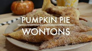 Pumpkin Pie Wontons Recipe
