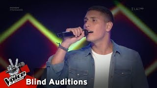 Nasos Aggelos - It 's Something Laika | 1o Blind Audition | The Voice of Greece