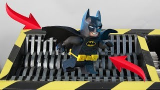 Experiment Shredding Lego Batman And Toys | The Crusher