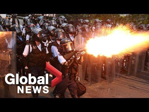Disturbios en Hong Kong entre la policía y los detractores de la ley de extradición