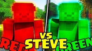 RED STEVE vs GREEN STEVE - Minecraft ITA - Parte 1 w/ Marcy