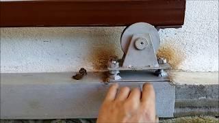 как сделать откатную калитку своими руками