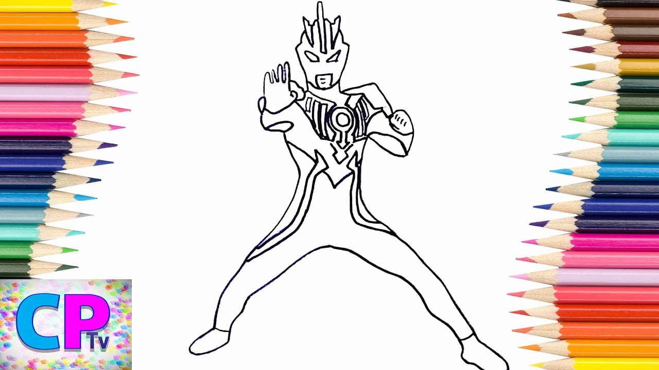 Ultraman Orb Coloring Pages for Kids 2 How to Color