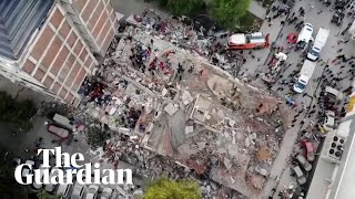 Turkey Earthquake: Drone Shows Buildings Reduced To Rubble In İzmir