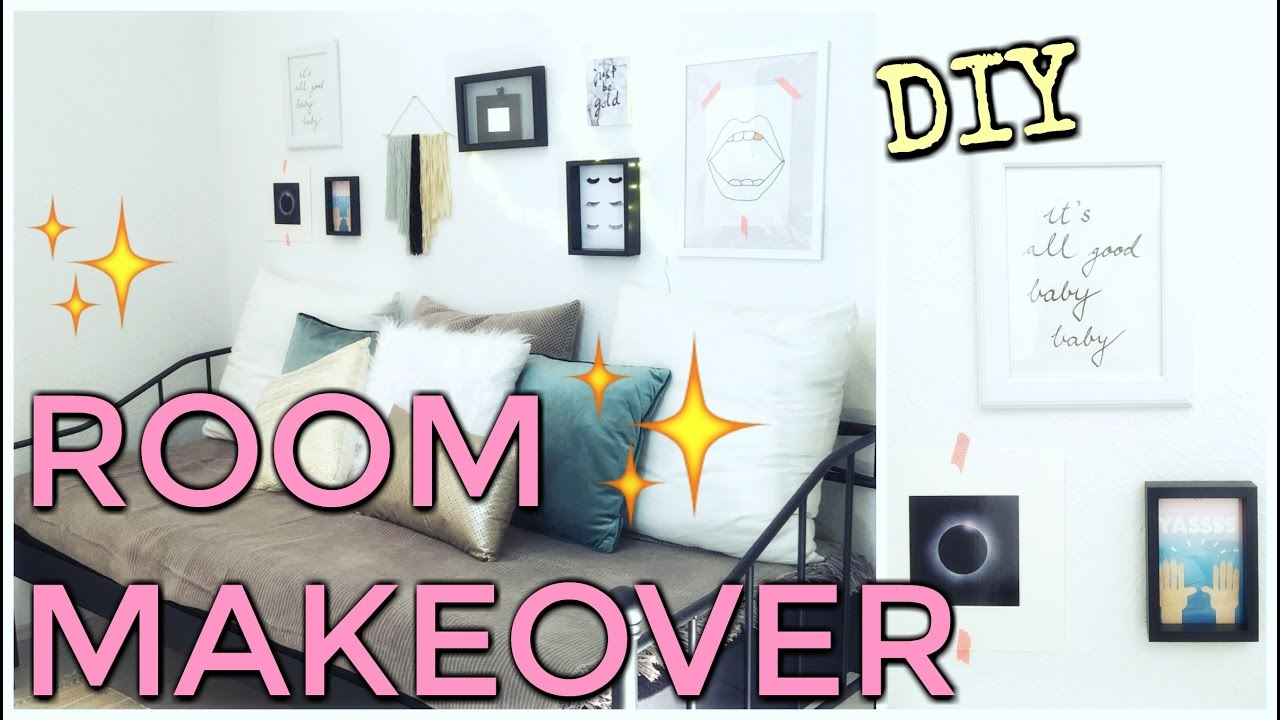 zimmer umstyling diy wanddeko und kunstfell kissen selbst gemacht funnypilgrim youtube. Black Bedroom Furniture Sets. Home Design Ideas