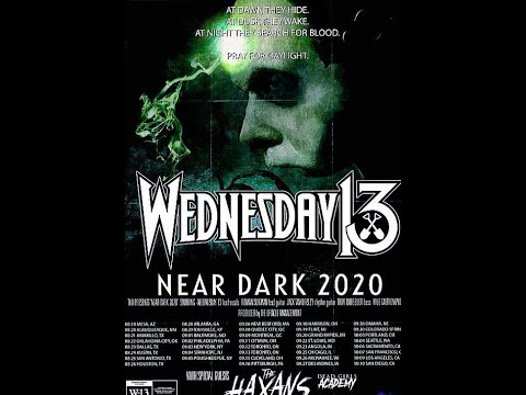 Wednesday 13 announce tour 'New Dark Tour' w/ The Haxans and Dead Girls Academy ..!