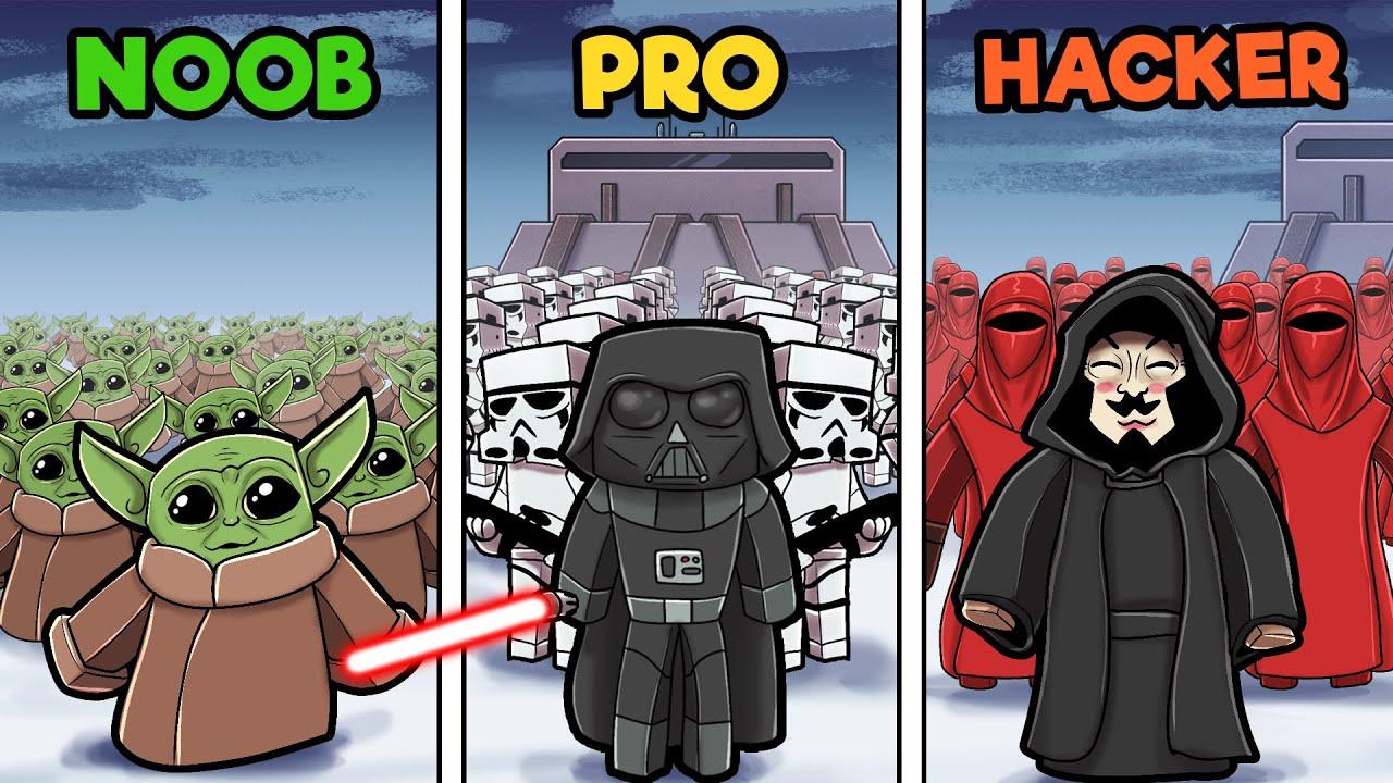 Star Wars Rise Of Skywalker Noob Vs Pro Vs Hacker Youtube