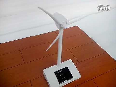 solar powered wind turbine desk model