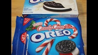 White Fudge Oreo & Candy Cane Oreo Review