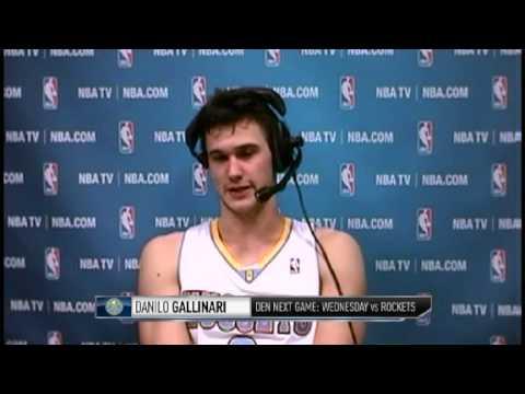 Danilo Gallinari Scores 27 Points | Pacers vs Nuggets  | NBA 2012-13 Season Jan 28, 2013