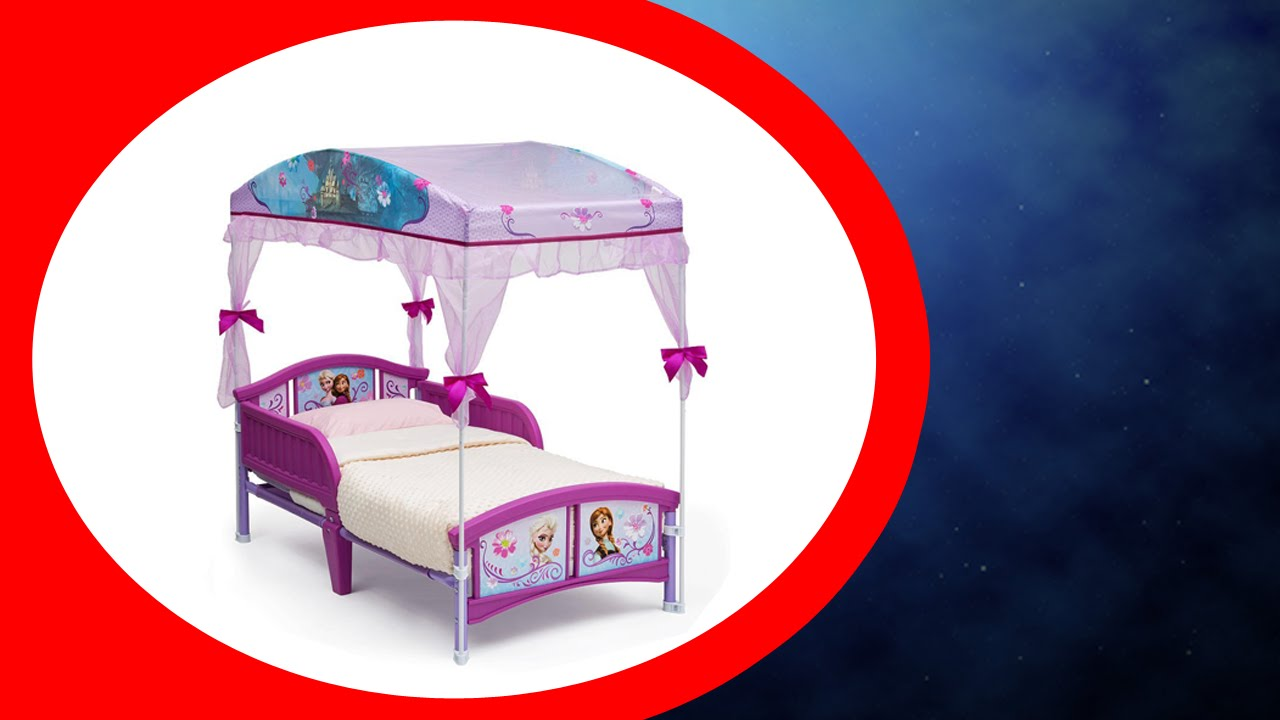 & Disney Frozen Canopy Toddler Bed Reviews - YouTube