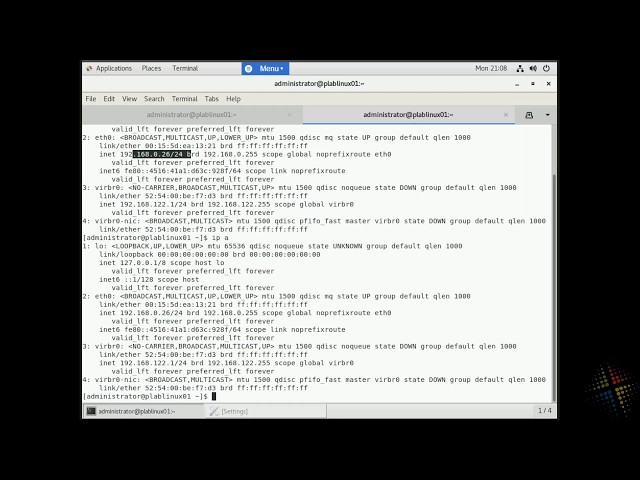 Configure a static IP address in CentOS7