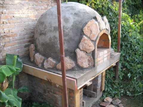 Construccion de horno de piedra barro y ladrillo en for Construccion de chimeneas de ladrillo