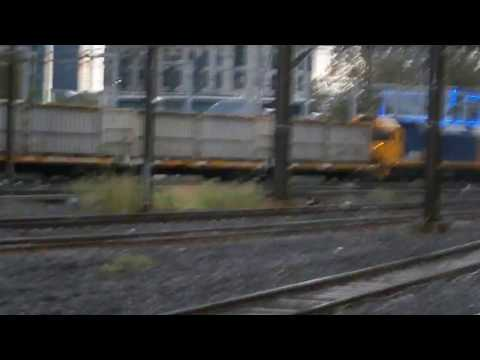 Freight Train through Flinders Street Melbourne