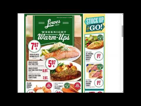Lowes Foods SUPER weekly special deals AD coupon preview ...