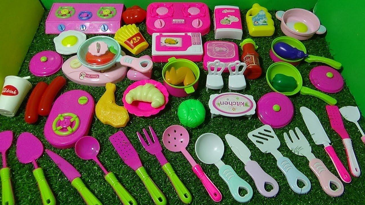 Download BEAUTIFUL MINI PINK KITCHEN PLAY SET FOR KIDS -- KIDS DAY