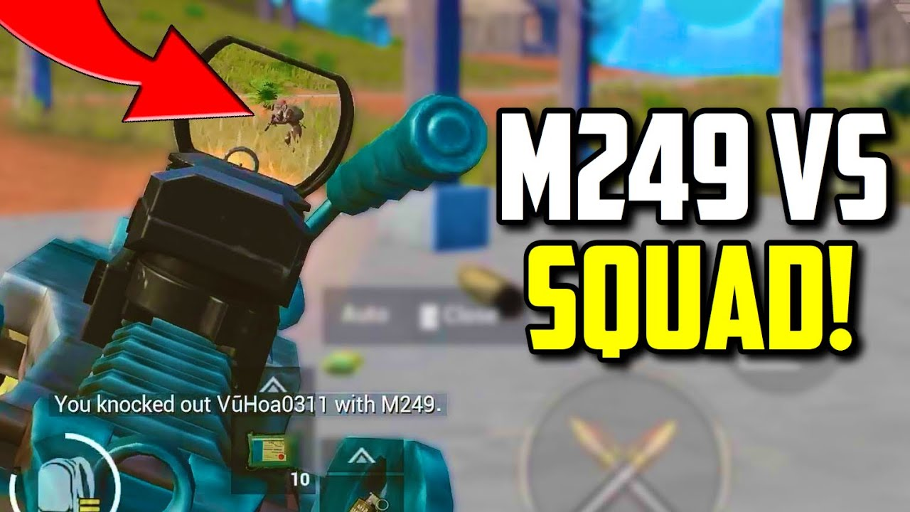 SIX FINGER claw player DESTROYS squad with M249! | PUBG Mobile