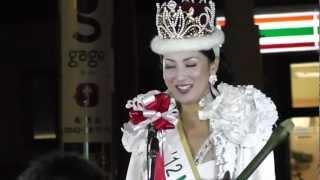 2012年ミス・インターナショナル世界大会で優勝した吉松育美さんが、地...