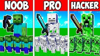 Minecraft NOOB vs PRO vs HACKER : MUTANT ARMY BATTLE ADVENTURE in Minecraft | Animation