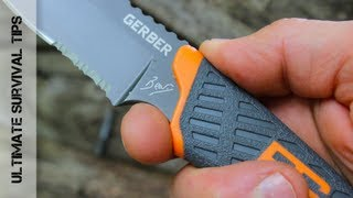 NEW - Gerber Bear Grylls Ultimate Compact Fixed Blade Survival Knife - Review