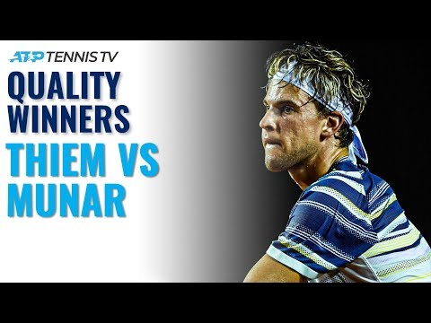 Quality Winners in Dominic Thiem vs Jaume Munar | Rio 2020 Highlights