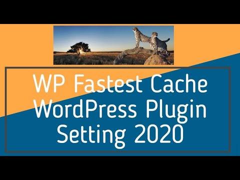 WP Fastest Cache WordPress Plugin Setting 2019
