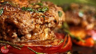 Stuffed Hamburger Patty Recipe - Forest Cooking