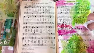 Bible Art Journaling | Praise Jesus for Palm Sunday