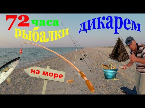 72 часа рыбалки дикарями на острове Бирючий. Рыбалка на кефаль, пеленгаса, журавку. Кирилловка