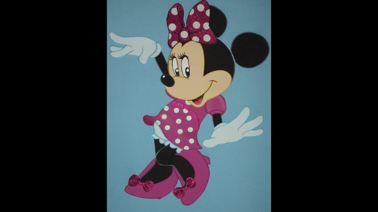 Minnie mouse en plumas en foami o goma manualidades - Manualidades minnie mouse ...
