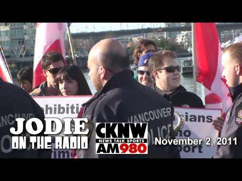 Jodie Emery on CKNW radio & Harper protest footage
