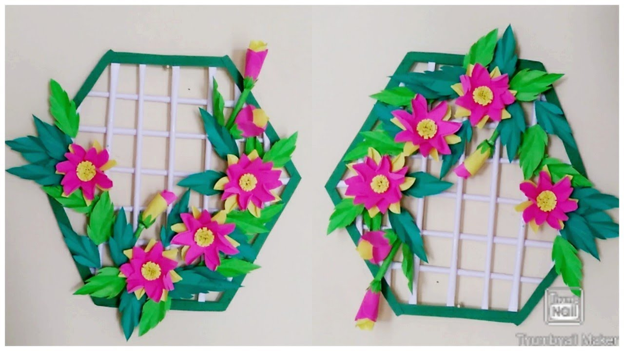 How to make  beautiful  wall hanging  ideas ! HOME DECOR IDEAS! Diy paper craft idea! Origami craft!