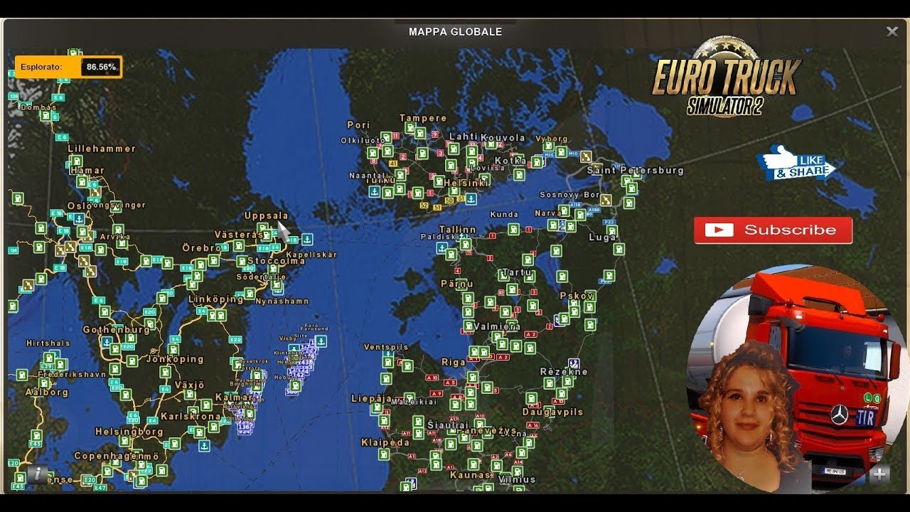 Euro Truck Simulator 2 (1 33) Beyond the Baltic Sea First Look Lituania +  DLC's & Mods