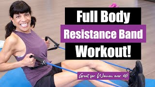 Full Body Resistance Band Workout! Women over 40!